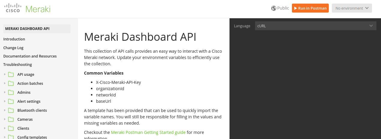 Cisco Meraki - Facilidades através de APIs » Cisco Redes